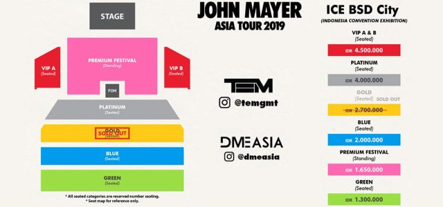 Penambahan Tiket John Mayer World Tour 2019 Di Jakarta