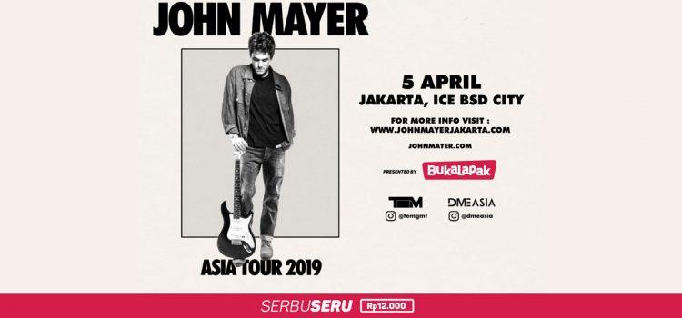 Tiket John Mayer Harga Rp 12 000 Di Serbu Seru Bukalapak Com