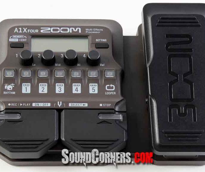 Zoom A1x Four Multi-Effects: Multi-Efek Gitar Akustik Multifungsi