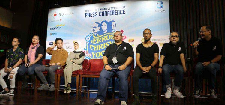 Konser Penghormatan Eros Djarot, Crisye dan Yockie Digelar di Jakarta Dan Surabaya