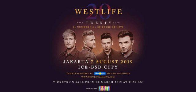 7 tahun setelah masa Hiatus Merayakan 20 Tahun karir musiknya Westlife hadir dengan tajuk konser: 'The Twenty Tour'