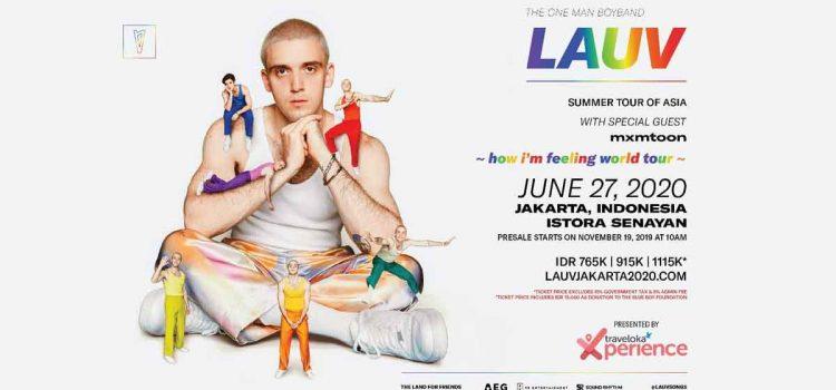 "Lauv Mengumumkan Konser di Jakarta: ""HOW I'M FEELING WORLD TOUR SUMMER TOUR OF ASIA, 2020"""