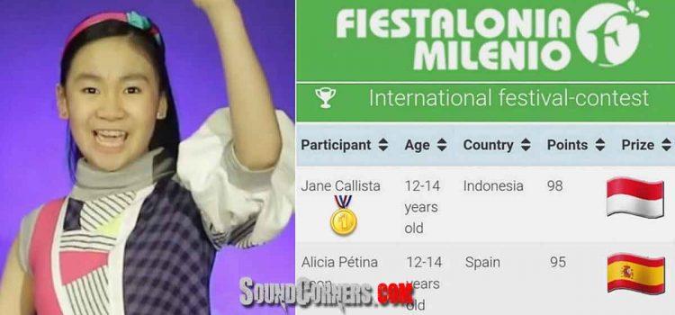 Jane Callista Juarai Kompetisi Vokal Online Di Eropa dan Amerika